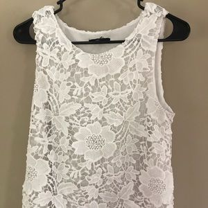Pretty white lace tank top!